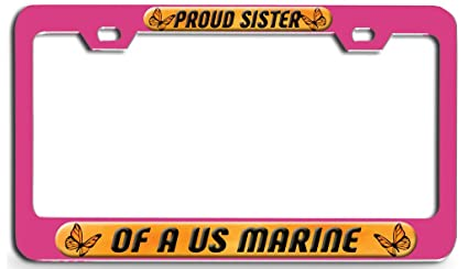 Amazon Com Makoroni Proud Sister Of A Us Marine Pink Steel