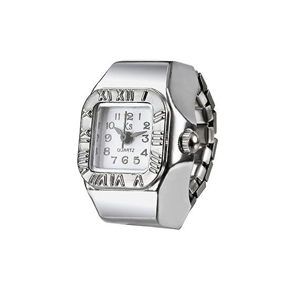 scarpe sportive f22c6 973a1 Modiwen donne moda anello orologio numeri romani lunetta ...