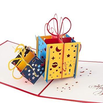 3d Geburtstagskarte Geschenk Mit Schleife Karte Zum Geburtstag