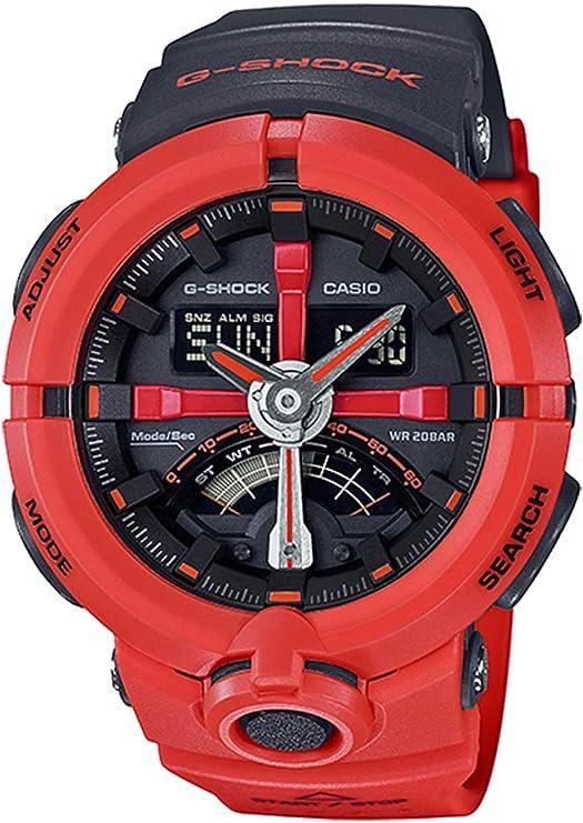 カシオ Gショック G-SHOCK パンチングパターンシリーズ メンズ 腕時計 GA-500P-4A ブラック/オレンジ [並行輸入品]