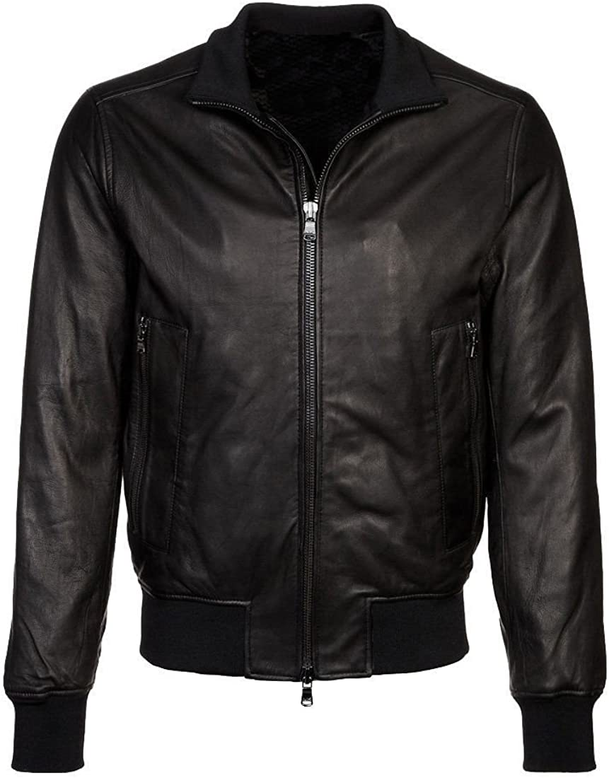 Travel Hide Mens Leather Jacket Motorcycle Genuine Lambskin Biker Jacket TM051