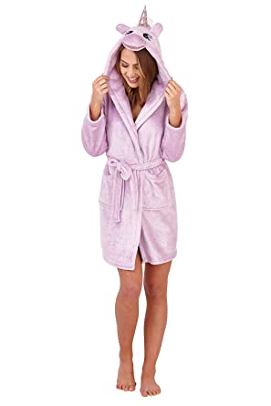 Loungeable - Bata - Straight - para Mujer Sparkle Robe - Lilac Purple Talla S
