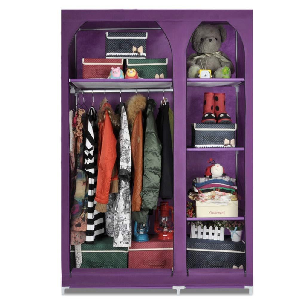 Hai Yan Boutique Cloth Wardrobe Cloth Wardrobe Combination Wardrobe Wardrobe Double Storage Clothes Dormitory (Color : Purple) by Hai Yan