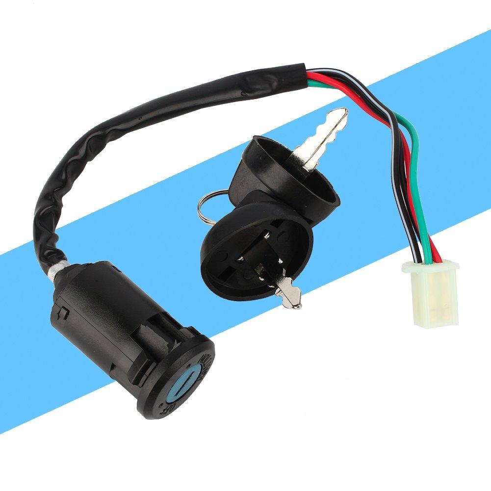 Elerose Universal 4pin start ignition switch waterproof electric door lock key for 50 90 110 125cc off-road motorcycle ATV