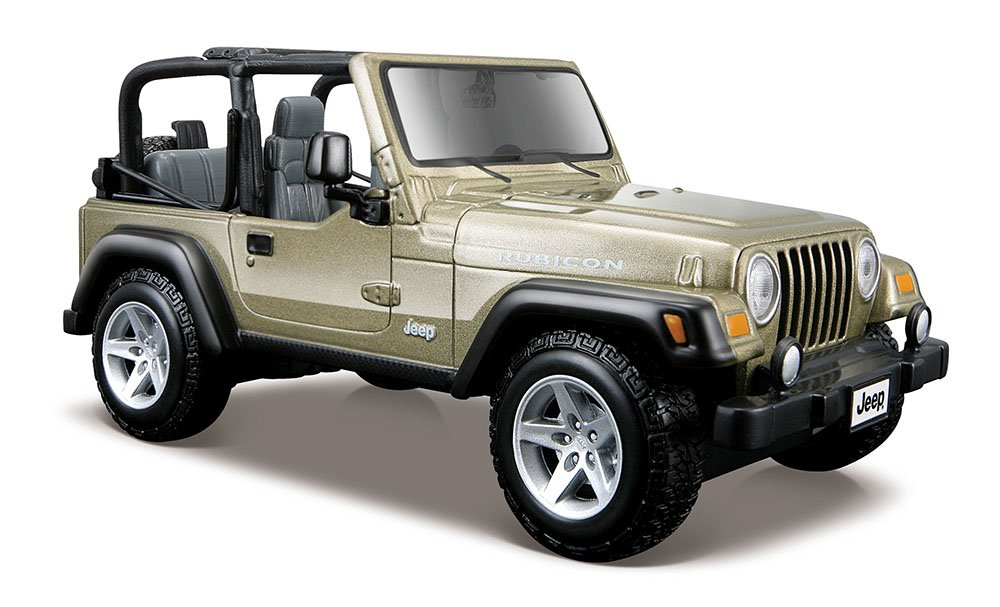 Maisto 1:27 Scale Jeep Wrangler Rubicon Diecast Vehicle (Colors May Vary) Maisto - Domestic 31245
