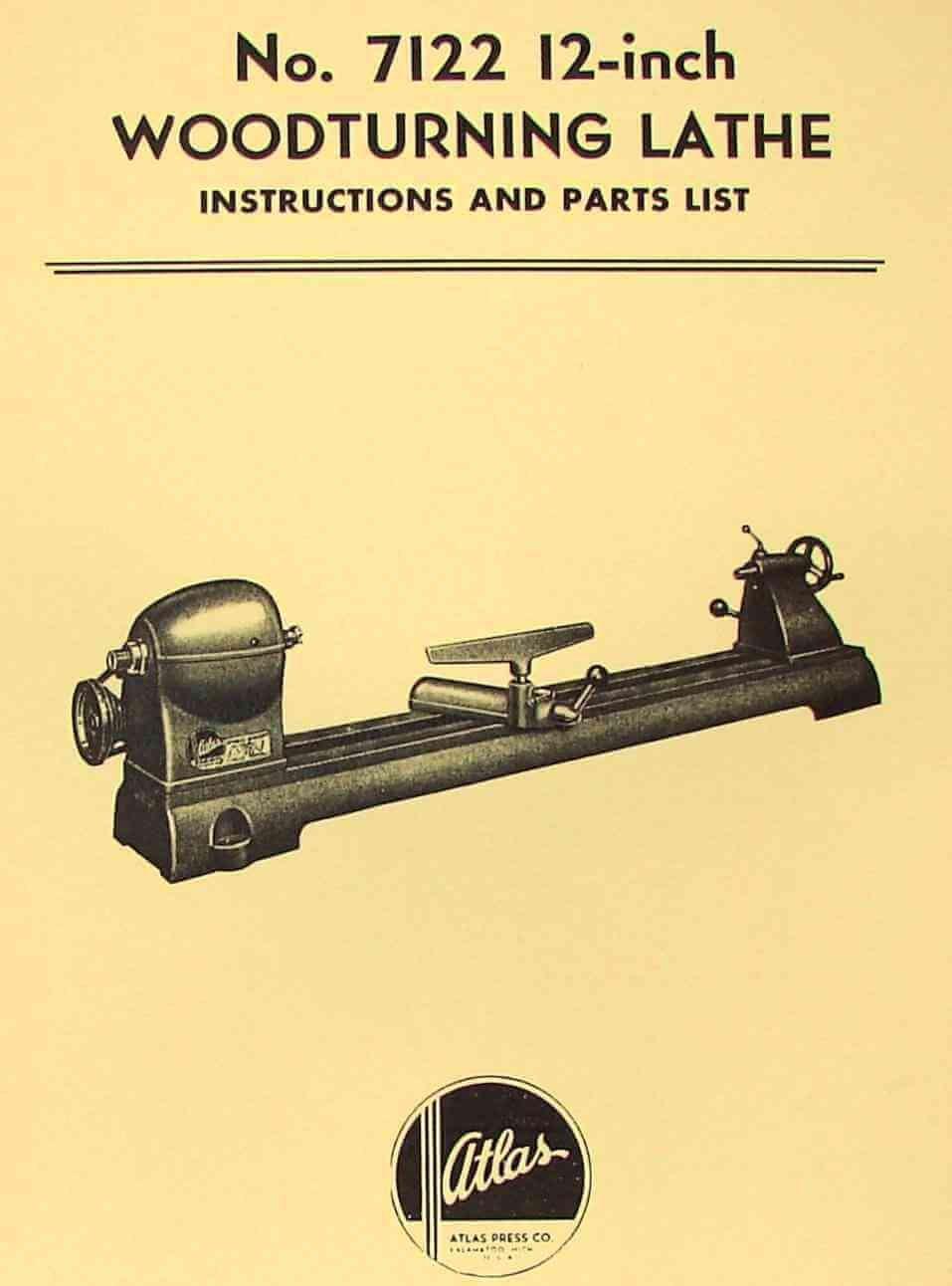 Atlas 7122 Wood Lathe Instruction & Parts Manual: Misc.: Amazon.com: Books