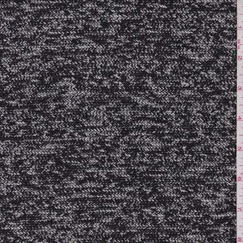 (Black/White/Grey Knit Jacketing, Fabric by The Yard)