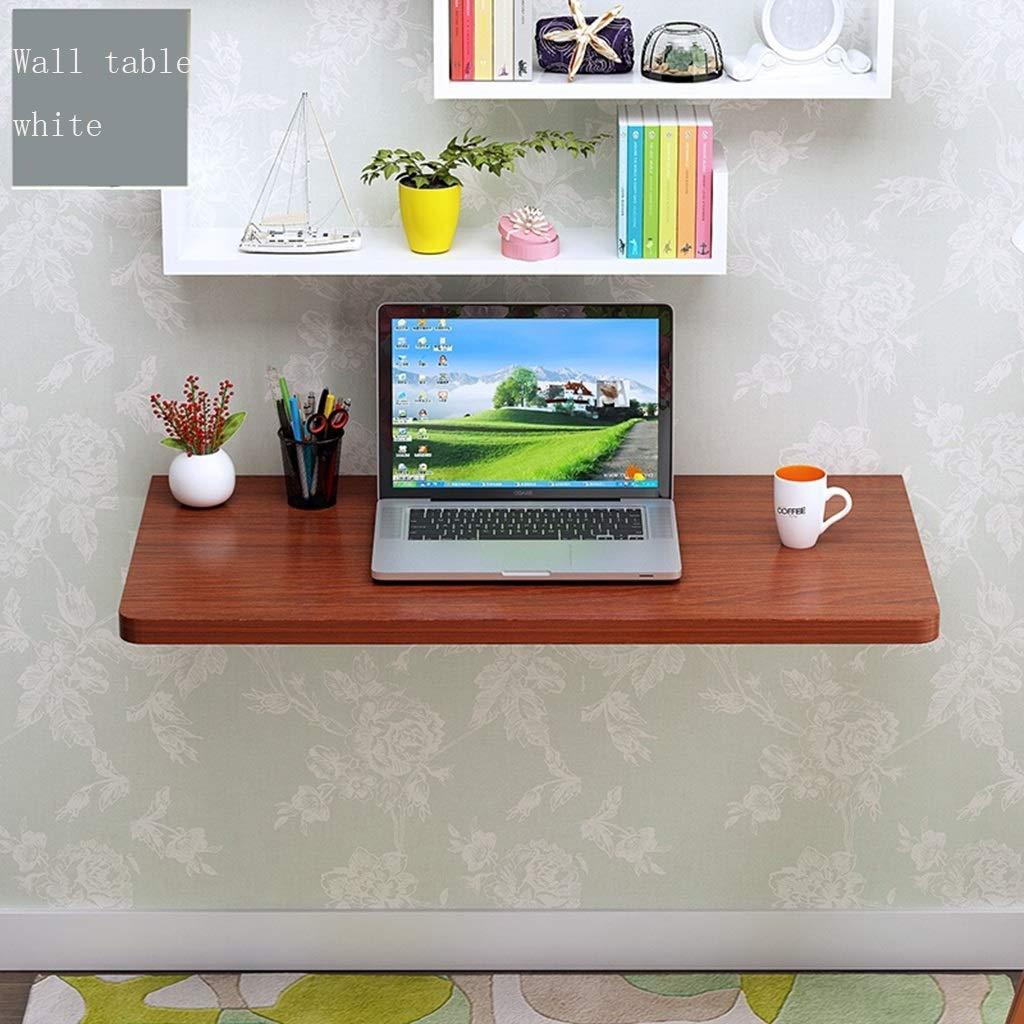 Multi-colord 8040cm HQCC Folding Table Computer Desk, Desk, Wall Hanging. Wall Hanging Folding Table, Home Small Office Desk (White 60  40cm) (color   Multi-colord, Size   80  40cm)