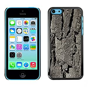Print Motif Coque de protection Case Cover // M00158399 Corteza de árbol Textura Textura de la // Apple iPhone 5C