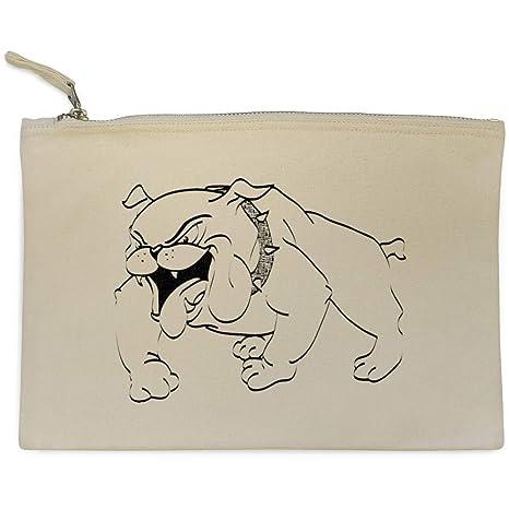 Azeeda Feliz Bulldog Bolso de Embrague / Accesorios Case (CL00007442)
