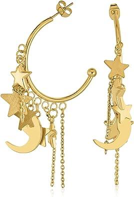 Stainless steel boho moons earrings for her