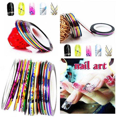 10 Pcs Mixed Color Rolls Striping Tape Line Nail Art, Nails Stripping Polish Stickers DIY Nail Design Nail Supplies Decoration Accessories