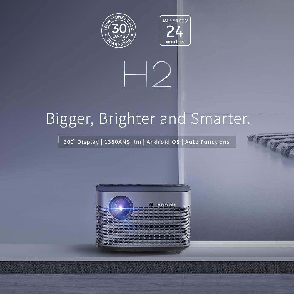 XGIMI H2 Proyector Inteligente True 1080P 4K Compatible 1350ANSI LM Harman/Kardon incorporados con Sistema Operativo Android Mirando Youtube 4k en una ...