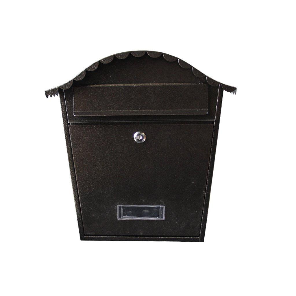 HLJ クリエイティブ屋外ヴィラレターボックスレトロ屋外防水メールボックスヨーロッパの壁にマウントされたメールボックス   B07FL129DB