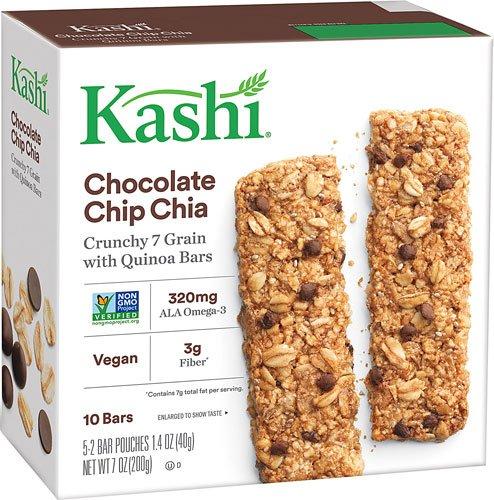 Kashi Crunchy Granola & Seed Bars Chocolate Chip Chia -- 5-2 Bar Pouches