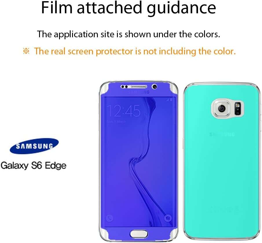 Samsung Galaxy S6 Edge Clear Type Full Cover Screen Protector Healingshield Front 2pcs+Back 1pc