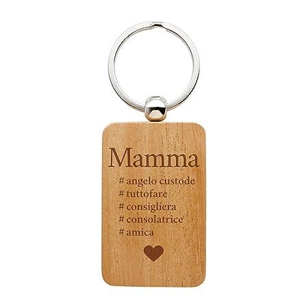 Hashtag Compleanno Mamma.Casa Vivente Portachiavi In Legno Con Incisione Hashtag Mamma