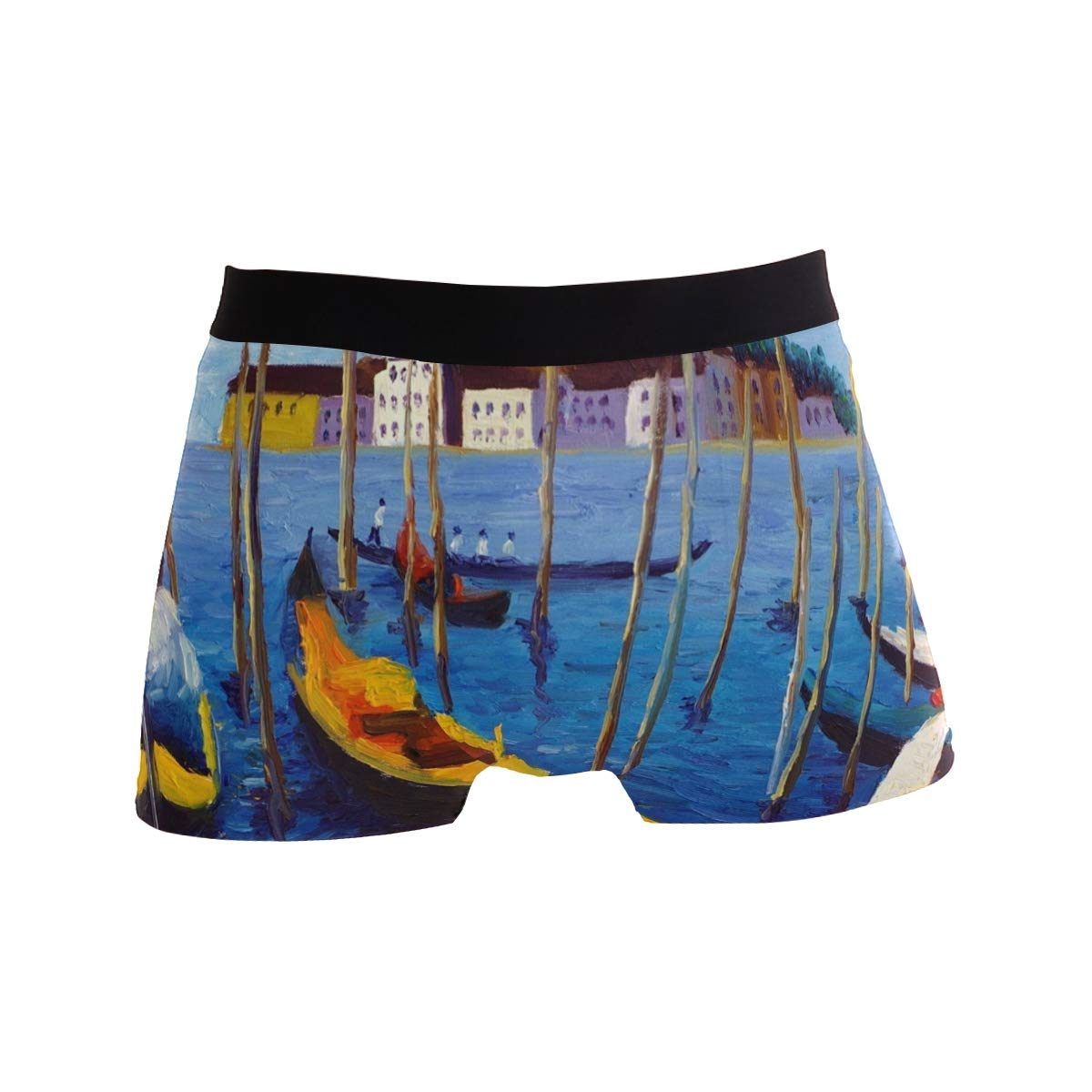KUWT Art Painting Venice Italy Mens Boxer Briefs Underwear Comfortable Underpants for Mens Boys Youth