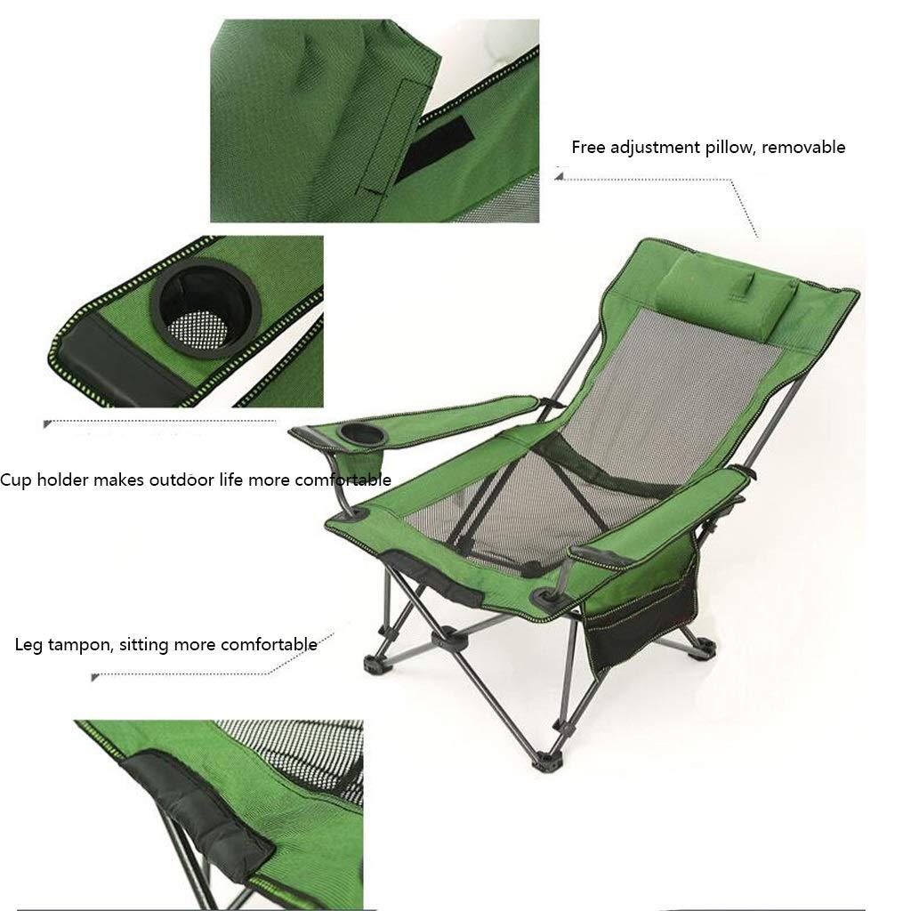 Portátil Al Silla Con Que Acampa Aire Plegable Reclinable Libre XuOikPZT