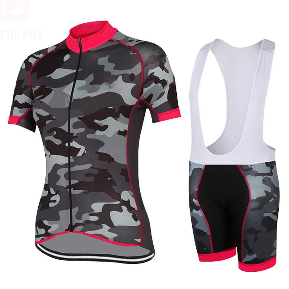 Ms Cycling Clothing Sets, Short Sleeves and 3D Gel pad Strap, Breathable QuickDry,Shorts for Cycling, Outdoor Cycling