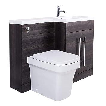 Meuble Sous Vasque Couleur Gris Calm | WC Avola Et Habillage Inclus