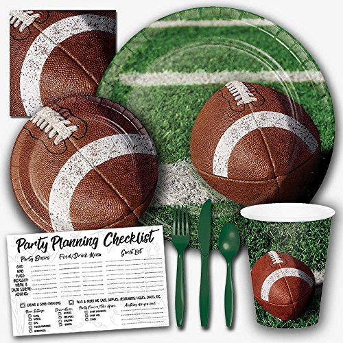 Honey Dew Gifts Tailgate Rush Football Theme Party Supplies Set - Serves 8 ()