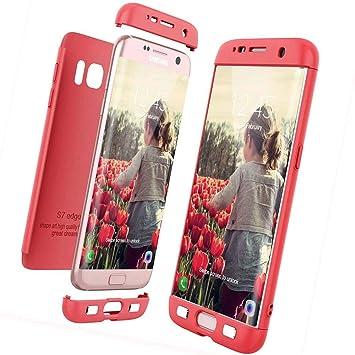 XCYYOO Funda para Samsung Galaxy S7 Edge Custodia de 360°Caja Protectora PC Shell,Carcasa Samsung Galaxy S7 Edge Silicona Snap On Diseño Antigolpes ...