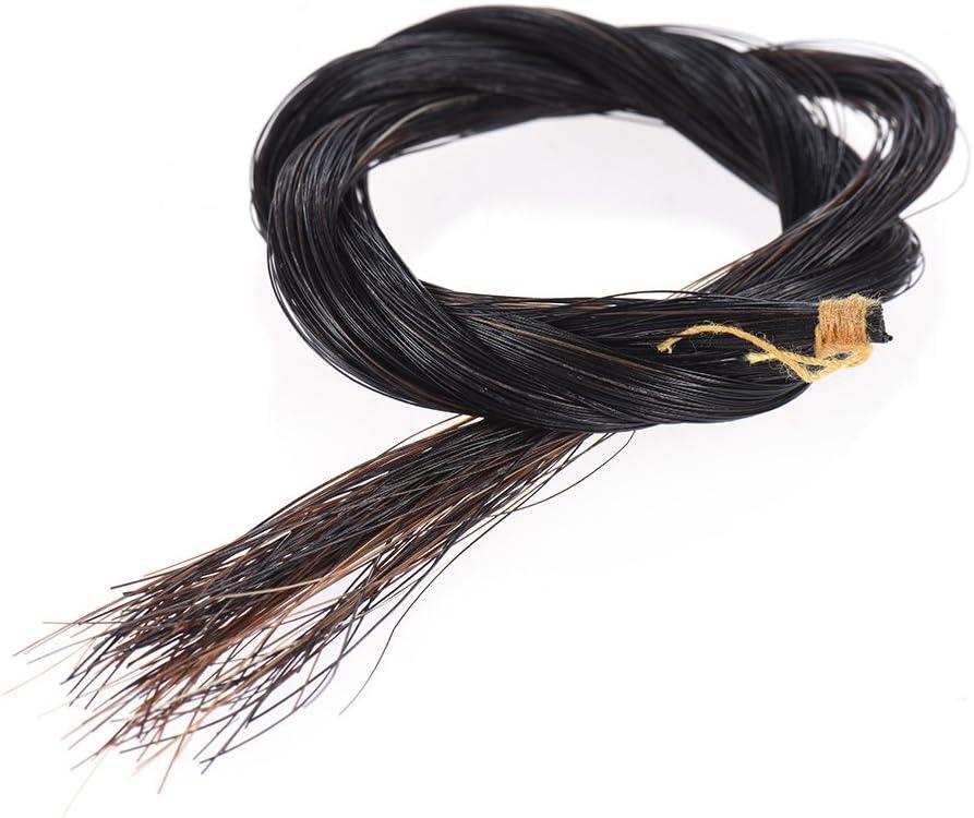 ammoon One Hank Bow Hair Horsehair for 3//4 Violin Bow Black Color