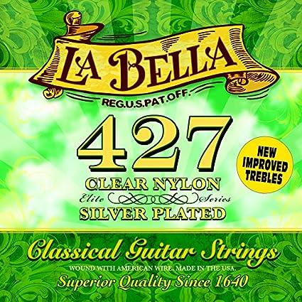 La Bella 7D75 - Juego de cuerdas de nylon
