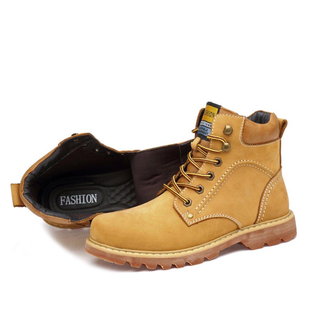 MERRYHE Desert Stiefel Herren Ankle Stiefel aus Echtem Leder Martin Stiefel Outdoor Sports Schuhe Casual Klettern Bergschuh