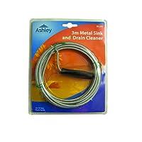 3 Metre Metal Blocked Plug / Drain Hole Unblocker Sink Drain Waste Pipe Cleaner