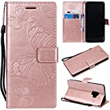 Samsung Galaxy S9 Case, Lomogo Leather Wallet Case with Kickstand Card Holder Shockproof Flip Case Cover for Samsung Galaxy S9 - LOKTU21671 Rose Gold