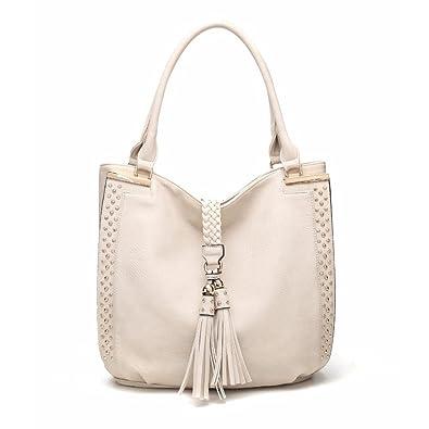 Amazon.com  MKF Collection Caylani Designer Hobo Bag by Mia K. Farrow  (Apricot)  Shoes 6867a37c19317