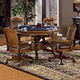Cheap Hillsdale Nassau 5-Piece Game Set w/Leather Back Game Chair