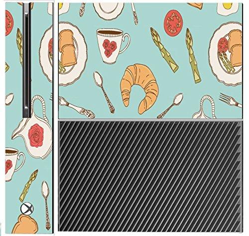 Fun Breakfast Food Pattern Wallpaper Xbox One Console Vinyl Decal Sticker Skin by Debbie's Designs