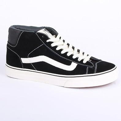 22e35e0868 Vans CA Mid Skool 77 H9T1KP Mens Suede Laced Trainers Black White - 10   Amazon.co.uk  Shoes   Bags
