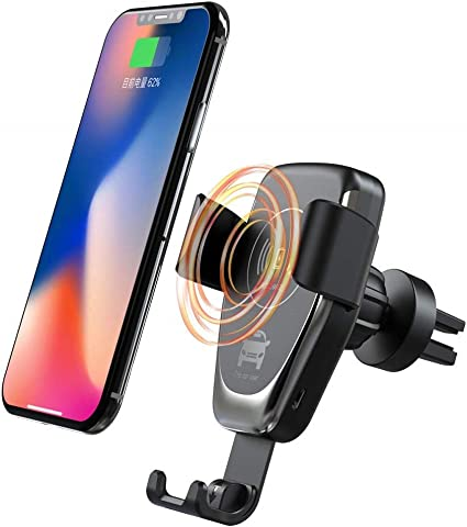 Wireless Car Charger Vent Mount Phone Holder QI Fast Charger Sensor Magnetic Automatic Clamping Charging Auto
