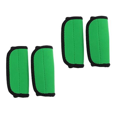 monkeyjack 2 agarres comodidad Kayak canoa remo para prevenir ampollas Frotar con cierre cinta (verde