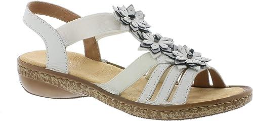 Rieker 62858 Femme Sandale à lanières,Spartiates,Chaussures d'été,Confortables