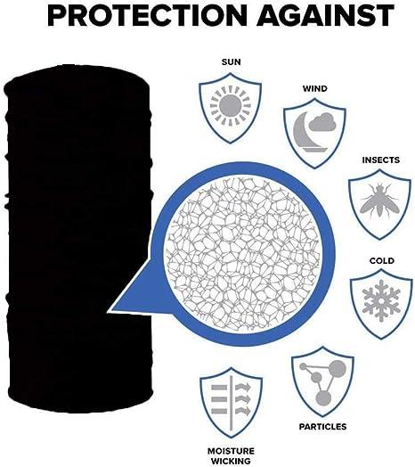 AGOLOD 4 Pezzi Fascia Copri-Collo Copricapo Colorate Buona Elasticit/à Traspiranti Morbidi Facili da Lavare