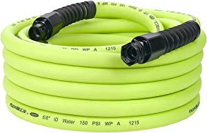 Flexzilla Pro Water Hose with Reusable Fittings, 5/8 in. x 50 ft, Heavy Duty, Lightweight, Drinking Water Safe - HFZWP550
