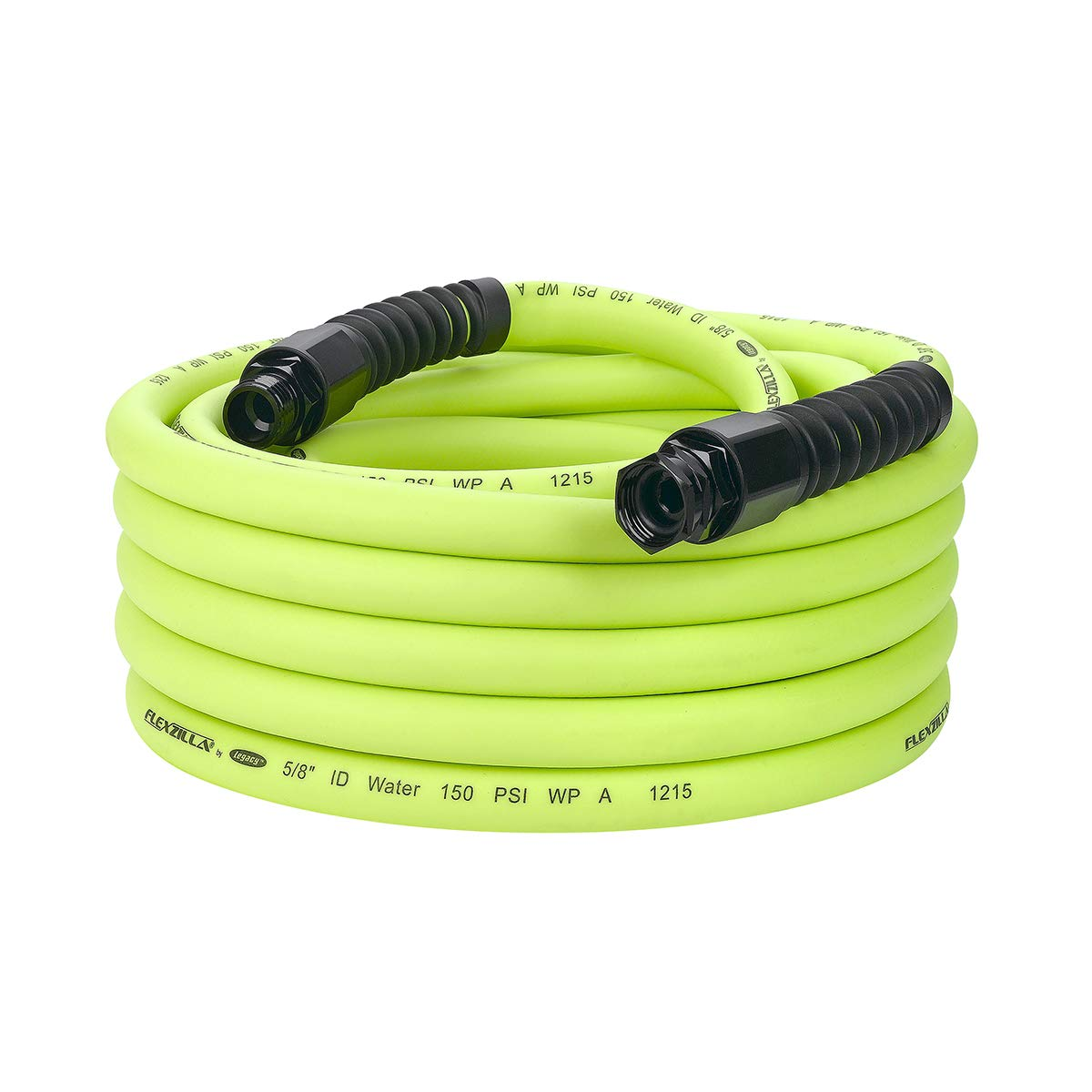 Flexzilla Pro Water Hose with Reusable Fittings, 5/8 in. x 50 ft, Heavy Duty, Lightweight, Drinking Water Safe - HFZWP550 by Flexzilla (Image #1)