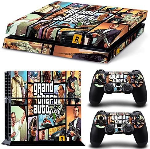 Hambur? PS4 Console Designer Skin for Sony PlayStation 4 System plus Two(2) Decals for: PS4 Dualshock Controller --- Grand Theft Auto V 5 Game Series GTA V 5 by Hambur: Amazon.es: Videojuegos