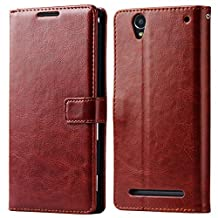 Ultra Flip Wallet PU Leather Case For Sony Xperia T2 Ultra XM50h Coque Phone Bag With Stand +2 Card Holders