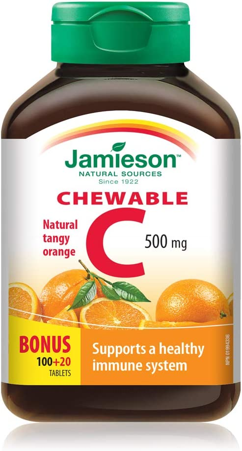 Jamieson Vitamin C Orange 500mg 120 Tablets