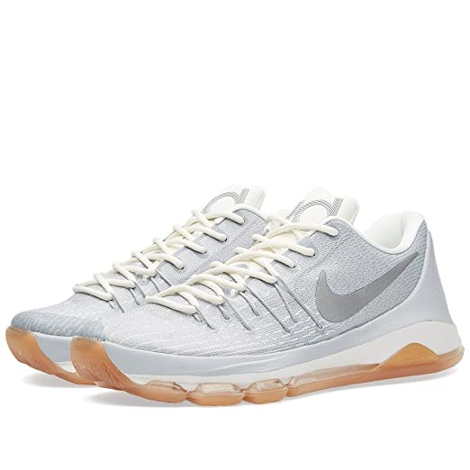 reputable site 9b126 0981f Nike Men s Kevin Durant VIII Low Top Basketball Sneaker White Wolf Grey  Silver Size 9.5 D. Roll over image to zoom in