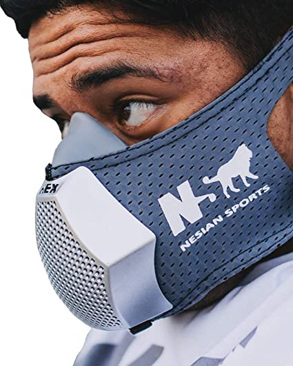 Amazon Com Ns Nesian Sports Hex Hypoxic Exercise Mask Altitude Breathing Simulation For High Performance Sport And Fitness Training Dark Gray Sports Outdoors