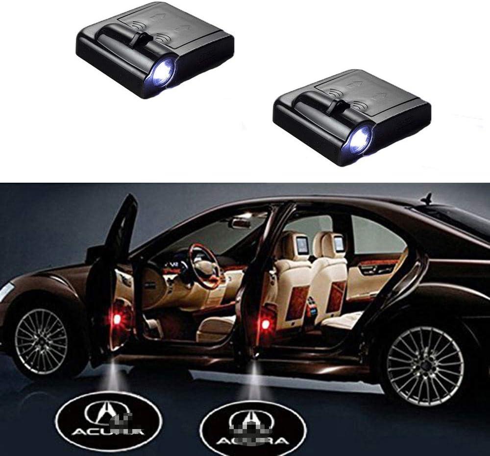 MIVISO 2PCS Car Logo Door Light Led Welcome Projector Wireless Car Courtesy Shadow Emblem Light Magnetic Sensor Lamp