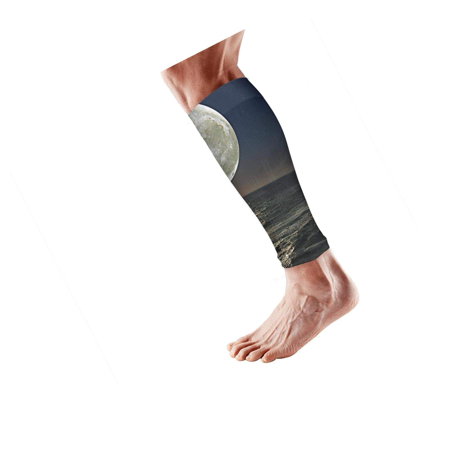 Smilelolly Ship Sailing in the Midnight Fullmoon Calf Compression Sleeves Helps Shin Splint Leg Sleeves for Men Women