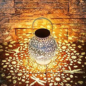 61Awo1KY9rL. SS300 KOOPER LED Solar laterne für Außen, Vintage Metall Solarlampen für Außen Warmweiß, IP65 Wasserdicht Hängend Garten Deko…
